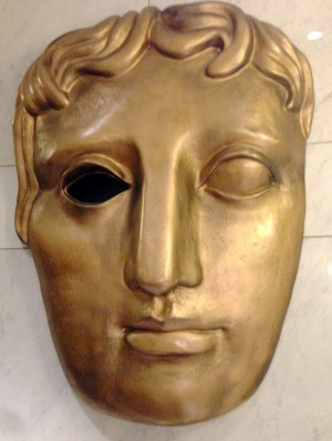 THAT golden bafta mask.